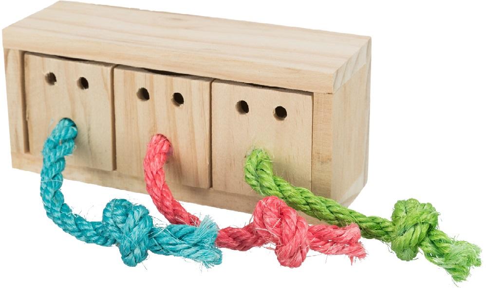 Трикси Игрушка Кубики для лакомств Snack Cube дерево, 16*7*6 см, Trixie