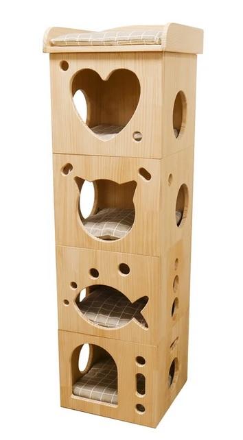 Роузвуд Домик для кошек Sleeper Caves деревянный 39*39*128 см, Rosewood