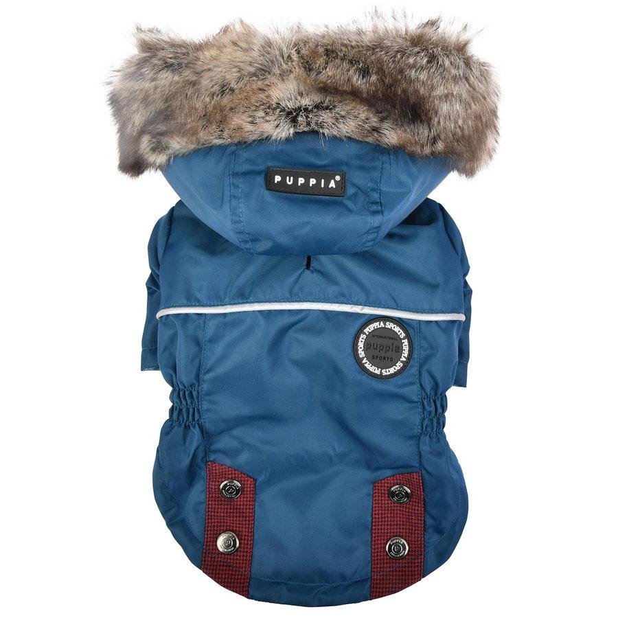 Паппи Куртка с капюшоном Brock для собак синяя, в ассортименте, черная, Puppia