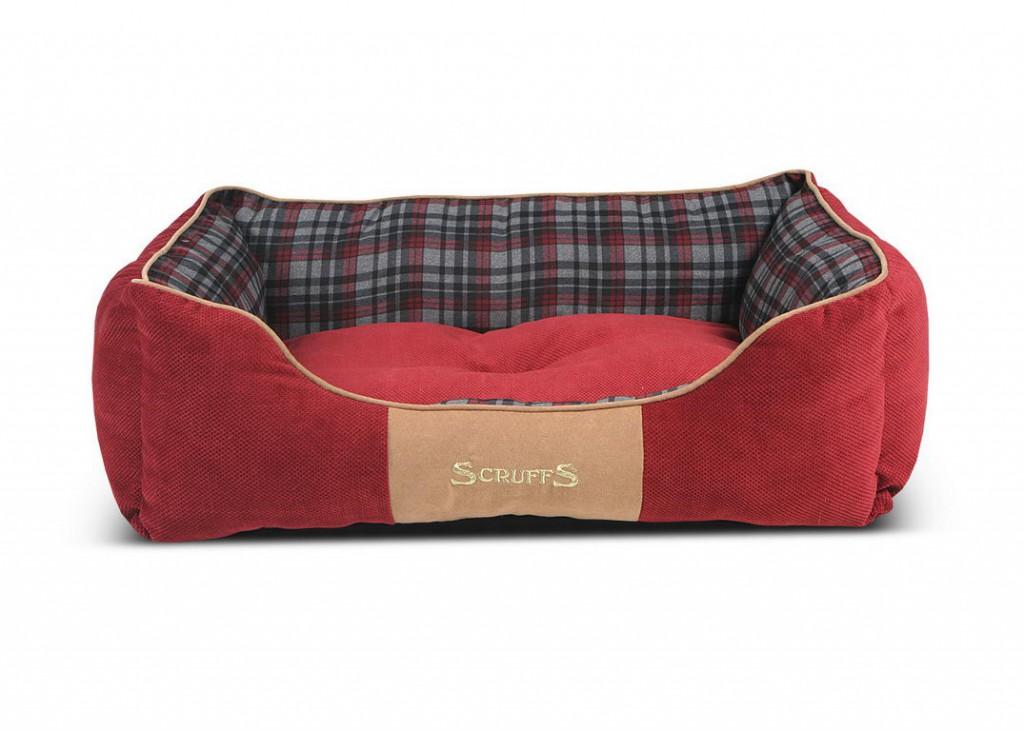 Скрафс Лежак с бортиками Highland красный, в ассортименте, Scruffs