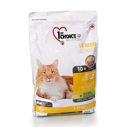 Корм Фест Чойс для пожилых и малоактивных кошек Mature or Less Active, Цыпленок, в ассортименте, 1st Choice