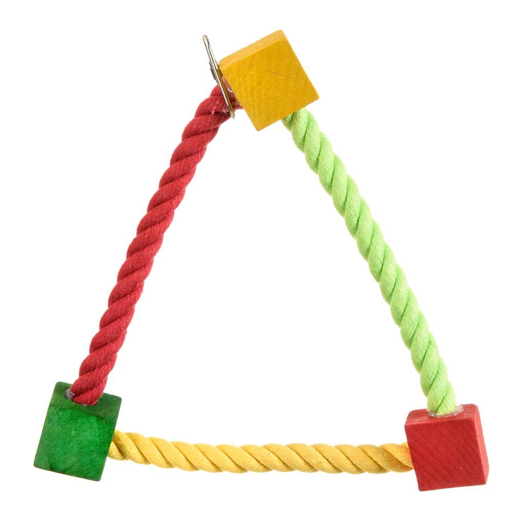 Хеппи Берд Качели Веревочный треугольник для мелких птиц, 22*3*22 см, Happy Bird