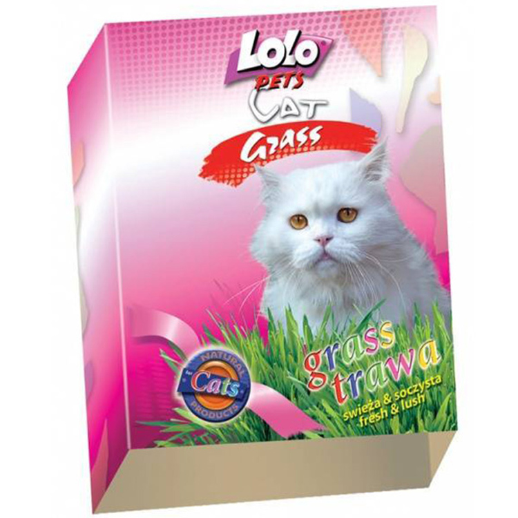 ЛолоПетс Трава для кошек lo-74800 ячмень, Lolo Pets