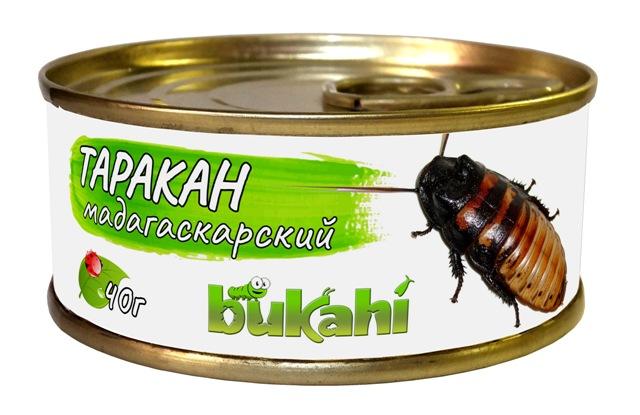 Букахи Консервированные мадагаскарские тараканы для насекомоядных, 40 г, Bukahi