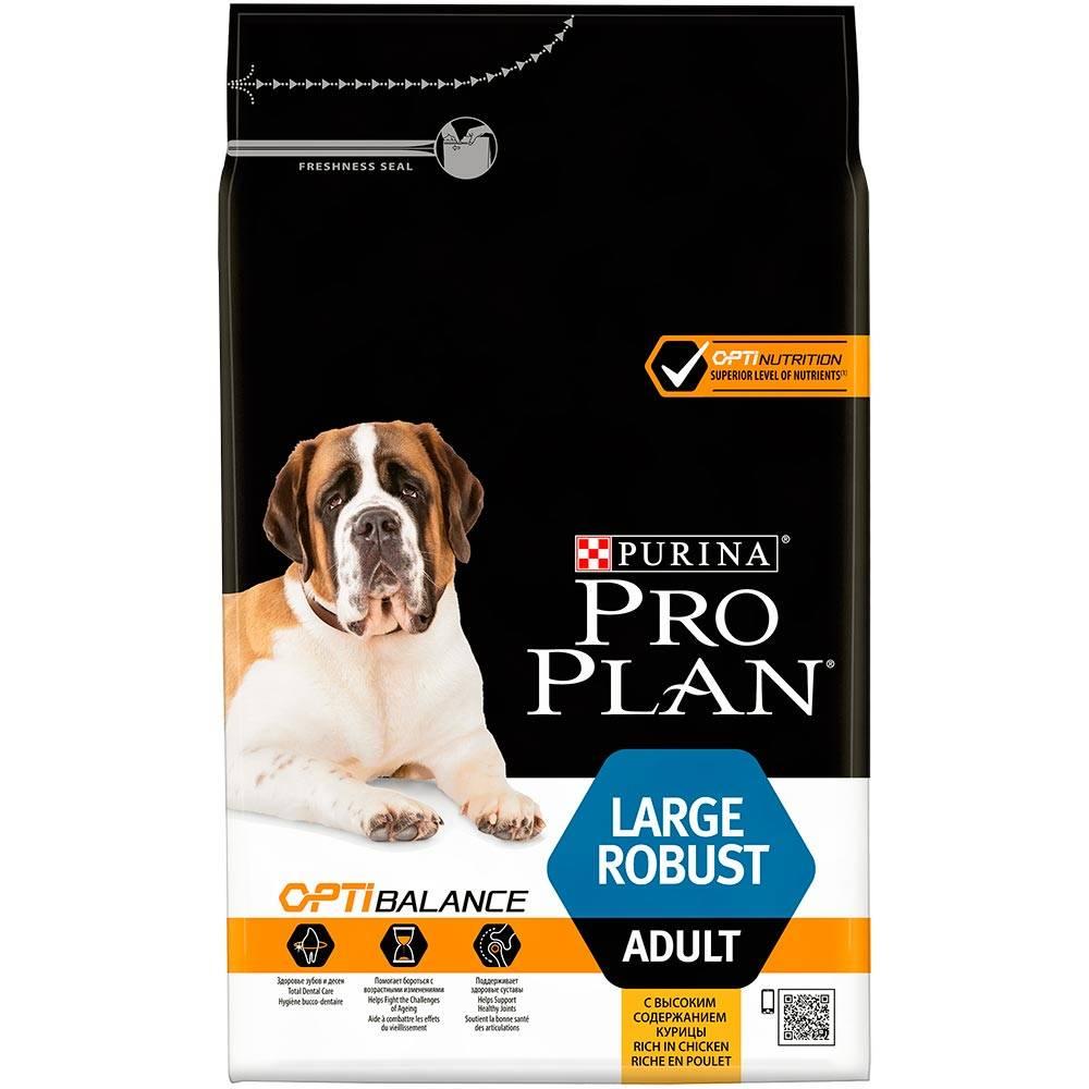 Про План Корм Adult Large Robust с комплексом Optibalance для собак крупных пород с мощным телосложением Курица/Рис, в ассортименте, Pro Plan