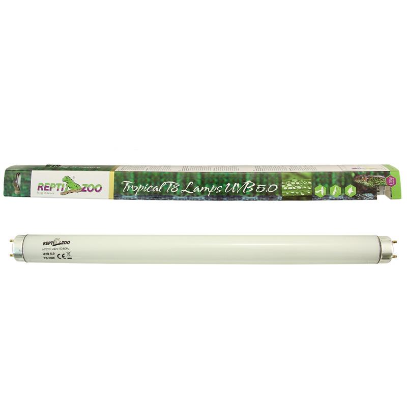 РептиЗоо Люминесцентная лампа T8 ReptiSol Tropical UVB 5.0 для рептилий, птиц, обезьян и растений, в ассортиментеReptiZoo