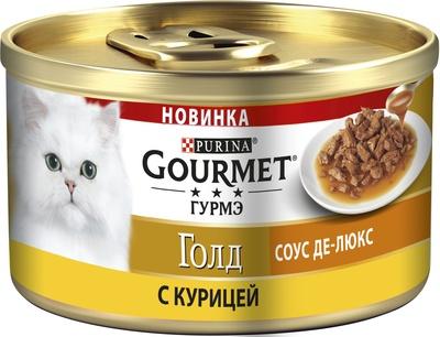 Консервы Gourmet Gold Соус Де-Люкс в роскошном соусе для кошек 12*85 г, в ассортименте, Gourmet