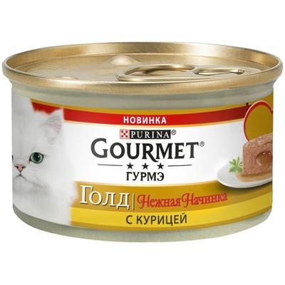 Консервы Gourmet Gold для кошек Нежная начинка, 12*85 г, в ассортименте, Gourmet