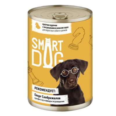 Смарт Дог Консервы для собак Курица/Потрошки, в ассортименте, Smart Dog