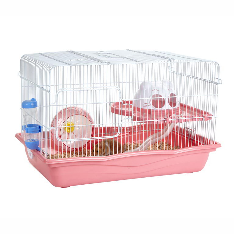 Скай Little Zoo Клетка для грызунов Harry, 55*34*35 см, розовая, Sky