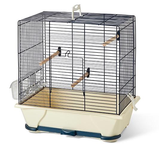 Савик Клетка Primo 30 для мелких птиц, 42*25*41,5 см, синяя/бежевая, Savic