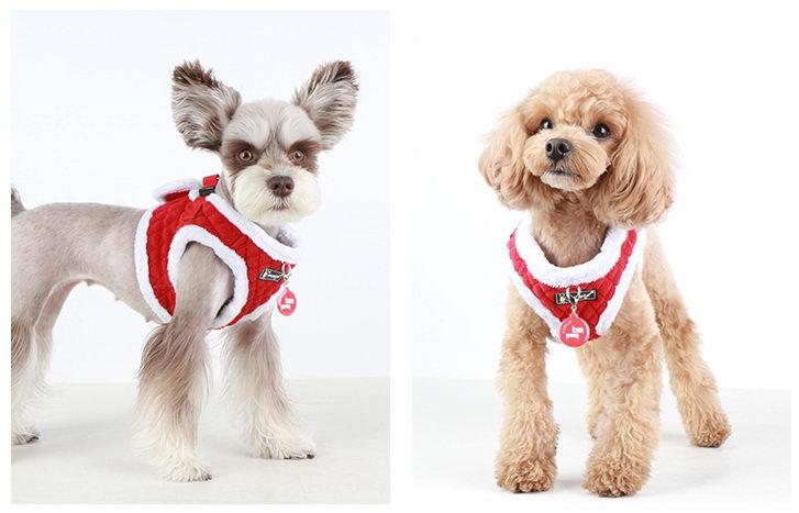 Паппи Шлейка Blitzen-B утепленная для кошек и мелких собак, в ассортименте, красная, Puppia