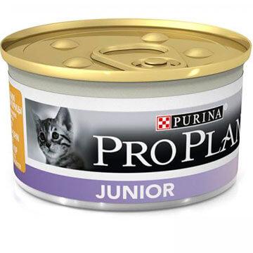 Консервы Пурина Про План Junior для котят 24*85г Мусс с курицей, Purina Pro Plan