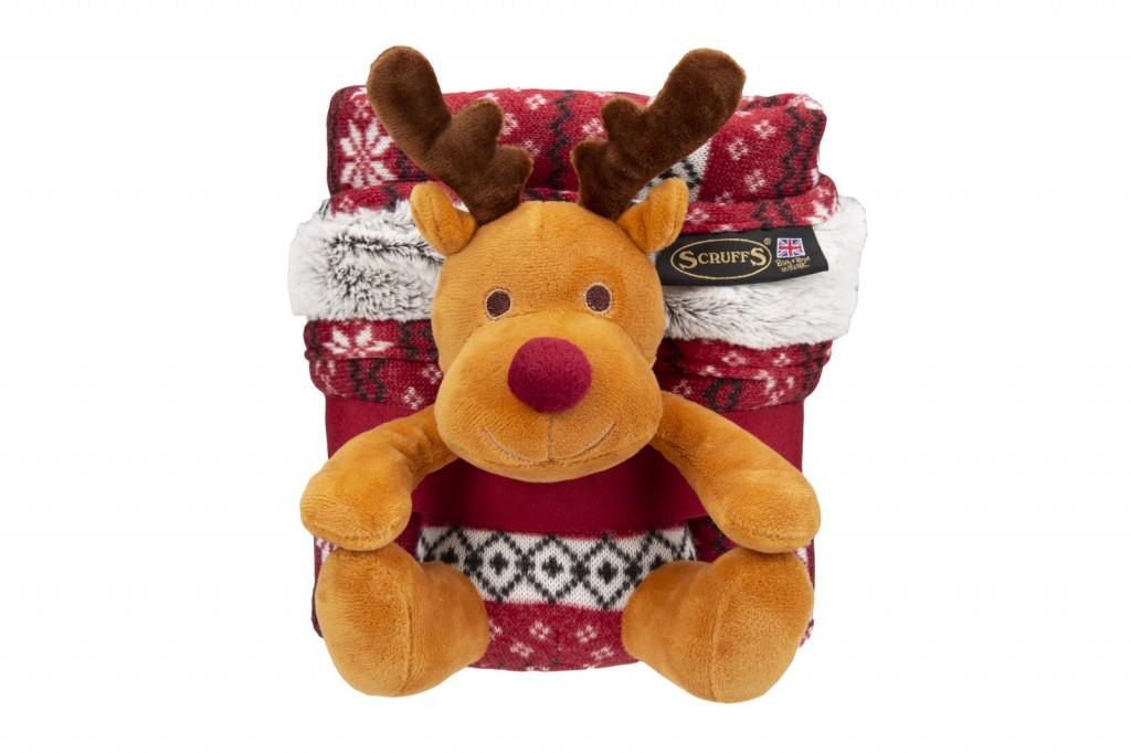 Скрафс Плед-одеяло с игрушкой для животных, 110*72 см, в ассортименте, Scruffs