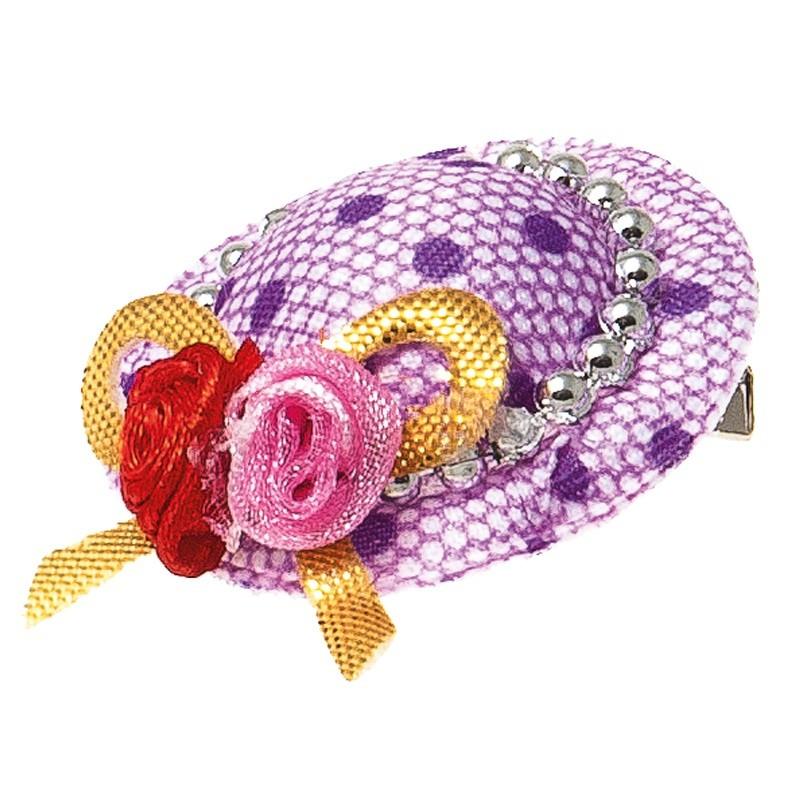 ПетЛайн Заколка-шляпка V.I.Pet Ностальжи, 3,5 см, в ассортименте, PetLine