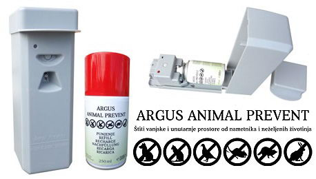 Аргус Отпугивающее устройство с датчиком движения для защиты объектов от животных + баллончик, Argus