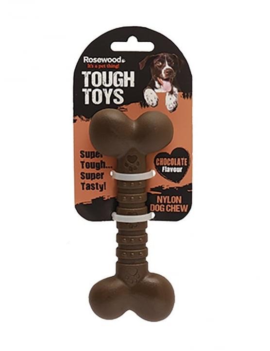 Роузвуд Игрушка Tough Toys Chocolate Кость с ароматом шоколада, в ассортименте, Rosewood