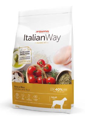Италиан Вэй Корм сухой безглютеновый Maxi Chicken/Rice для собак крупных пород, Курица/Рис, 12 кг, Italian Way