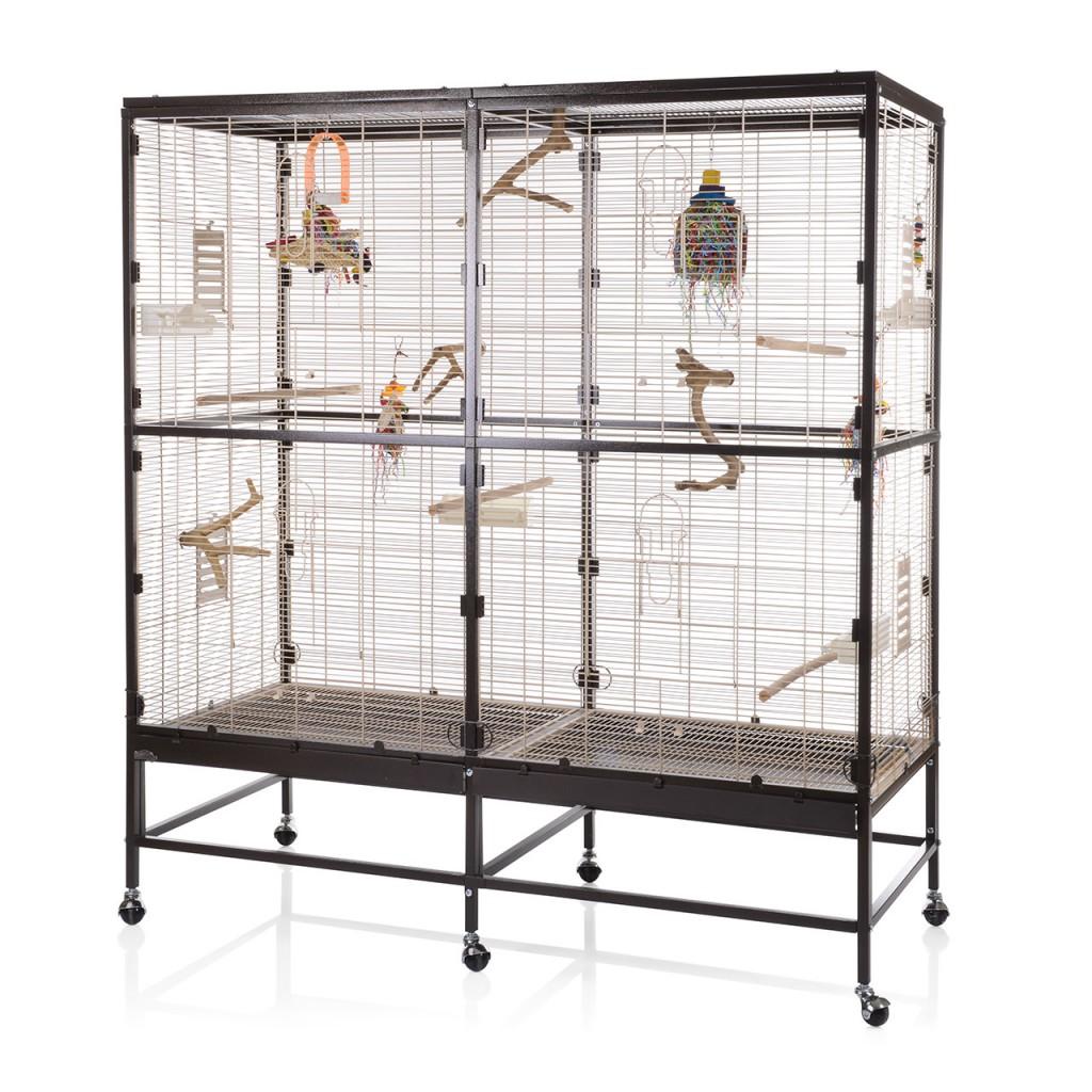 Монтана Клетка для грызунов и мелких птиц Paradiso 150 Choco-Vanile, 150*65*120/161 см, Choco-Vanilla, Montana