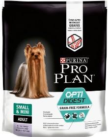 Про План Корм беззерновой Grain Free Formula для собак мелких и карликовых пород с чувствительным пищеварением, Индейка, в ассортименте, Pro Plan
