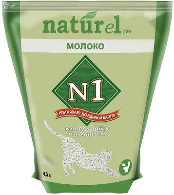 N1 Наполнитель Naturel растительный комкующийся для кошачьего туалета 4,5 л / 1,8 кг, в ассортименте, N1