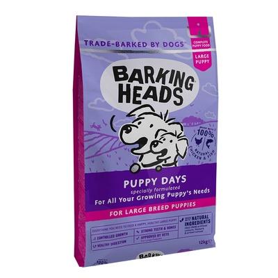 Баркинг Хедс Корм беззерновой для щенков крупных пород Щенячьи деньки (Puppy Days Large), Курица/Лосось/Рис, в ассортименте, Barking Heads