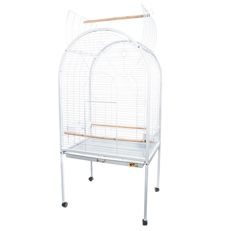 Триол Клетка-вольер для средних и крупных птиц BC02 белая 78*60*156 см, Triol