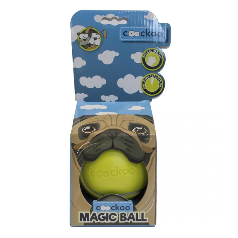 Эби Игрушка-мяч для собак и кошек интерактивная Magic ball, 8,6 см, на батарейке AA, в ассортименте, Europet Bernina International