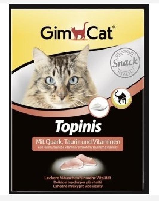 Джимкэт Витаминизированное лакомство Мышки с творогом, таурином и витаминами Topinis для кошек, 220 г, GimCat