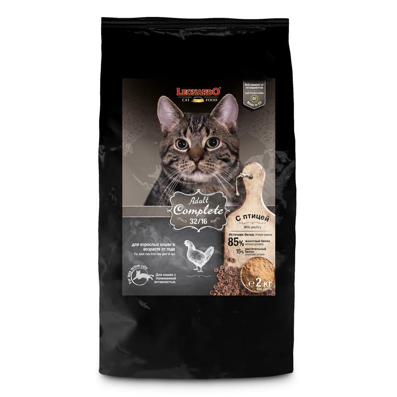 NEW Леонардо Корм Adult Complete для кошек Птица, в ассортименте, Leonardo