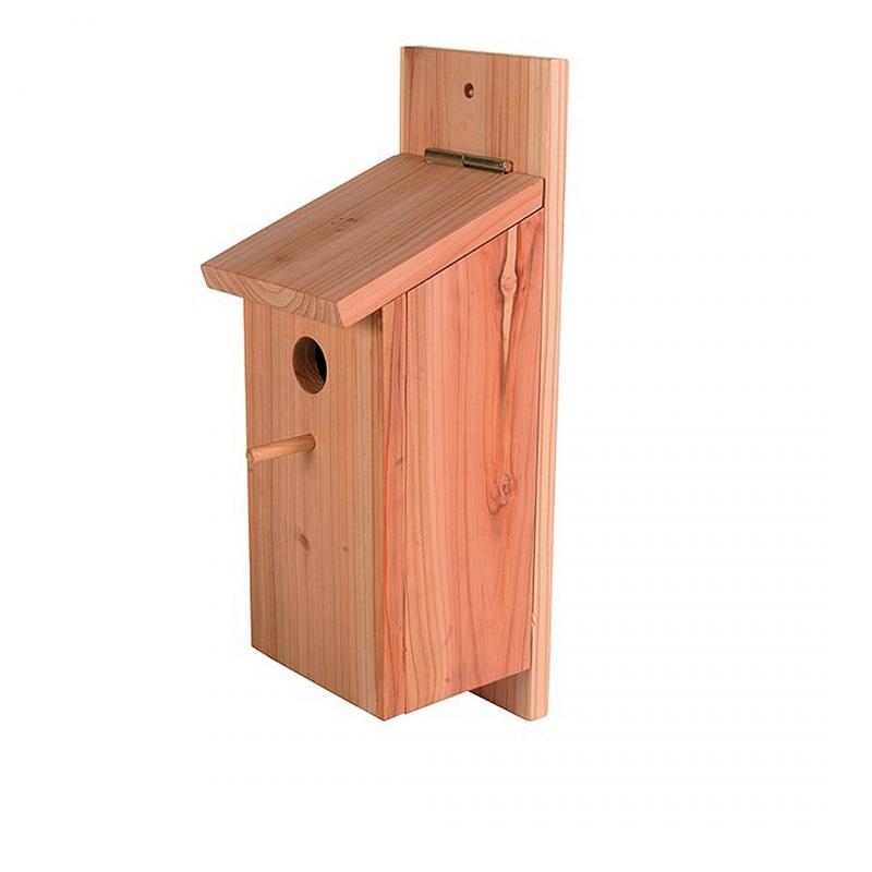 Дуво+ Домик для гнездования деревянный с платформой для подвешивания 12,5*14,5*36 см, DUVO+