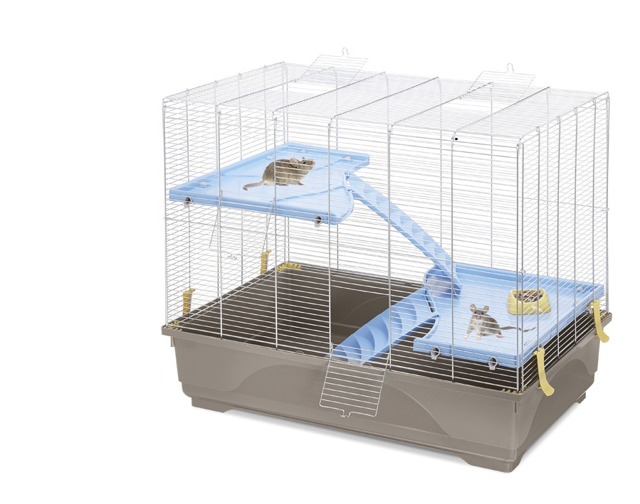 Имак Клетка Rat 80 Mid для грызунов, 80*49*63 см, серый поддон, Imac