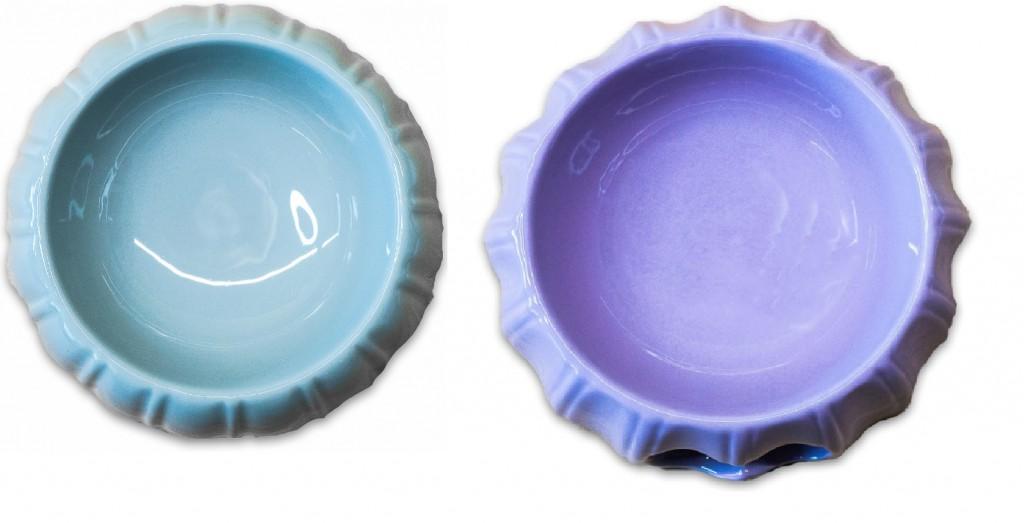 КерамикАрт Миска керамическая с узором Полоски, 300 мл, 17*6,5 см, в ассортименте, KeramikArt