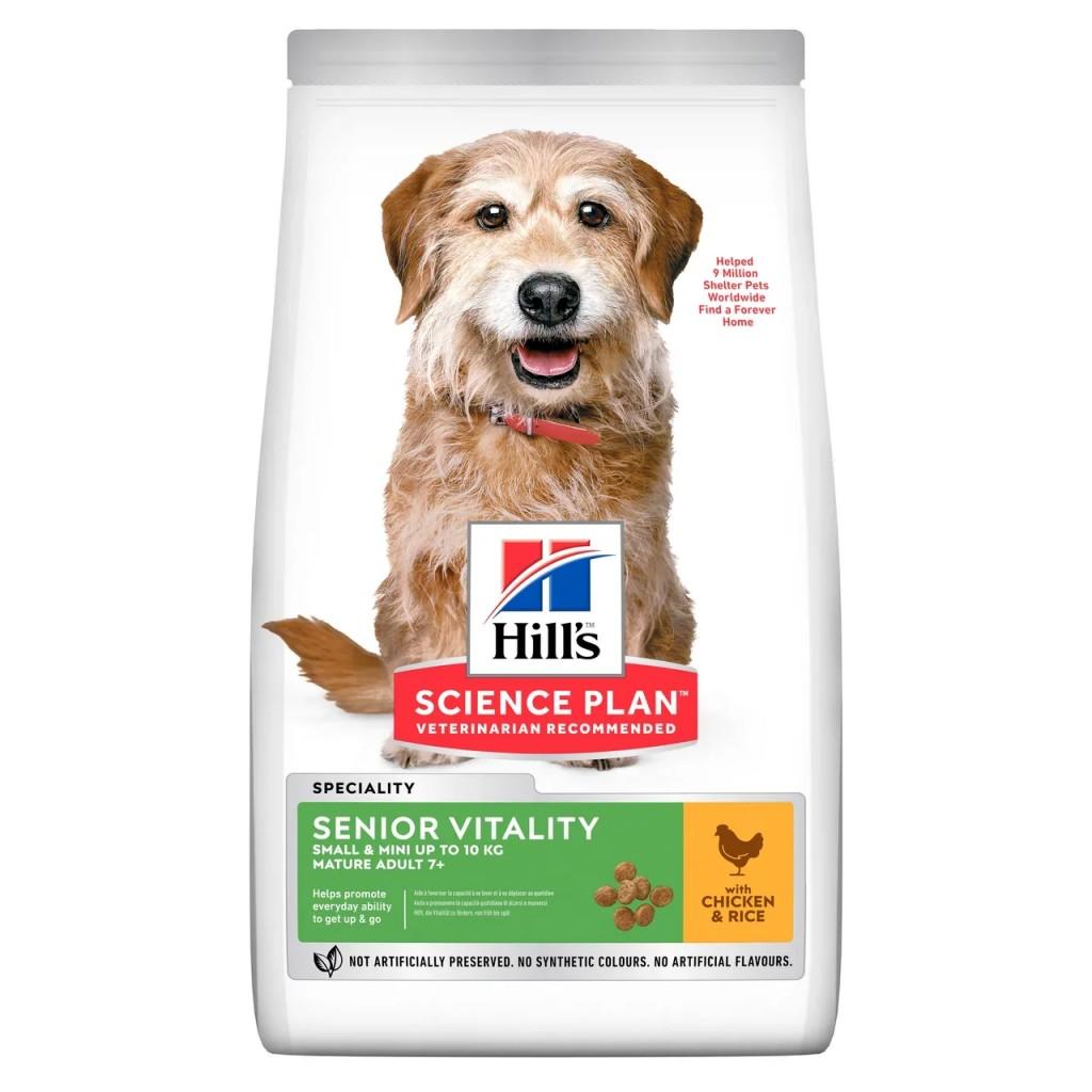 Корм Хиллс Science Plan Senior Vitality для собак мелких пород старше 7 лет, Курица/Рис, в ассортименте, Hills