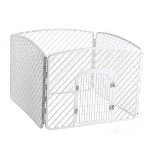 Доглэнд Пластиковый белый вольер размер секции 100*75 см, Dog Land