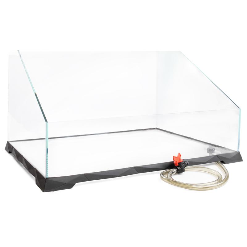 РептиЗоо Акватеррариум с системой быстрого слива воды, стекло 6 мм, в ассортименте, ReptiZoo