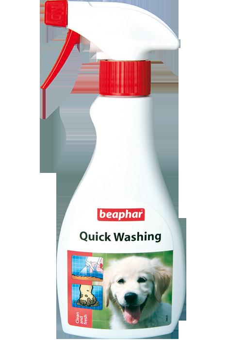 Беафар Экспресс-шампунь без смывания Quick Washing для собак, кошек и лошадей, 250 мл, Beaphar