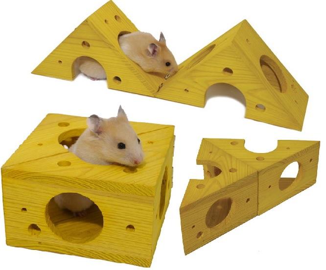Роузвуд Игрушка-домик Сыр-трансформер, тренажер для мелких грызунов, 11*11*7 см, Rosewood