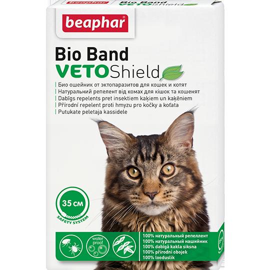 Беафар Биоошейник VETO Shield Bio Band от эктопаразитов для кошек и котят, 35 см, Beaphar