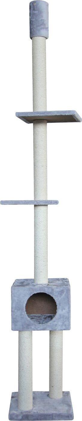 Нобби Комплекс для кошек LANA 38*38*239-259 см  с упором в потолок серый, Nobby