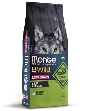 Монже Корм низкозерновой BWild LOW GRAIN для собак всех пород, Кабан, Monge
