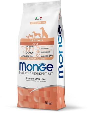 Монже Корм Dog Monoprotein для собак всех пород Лосось/Рис, в ассортименте, Monge