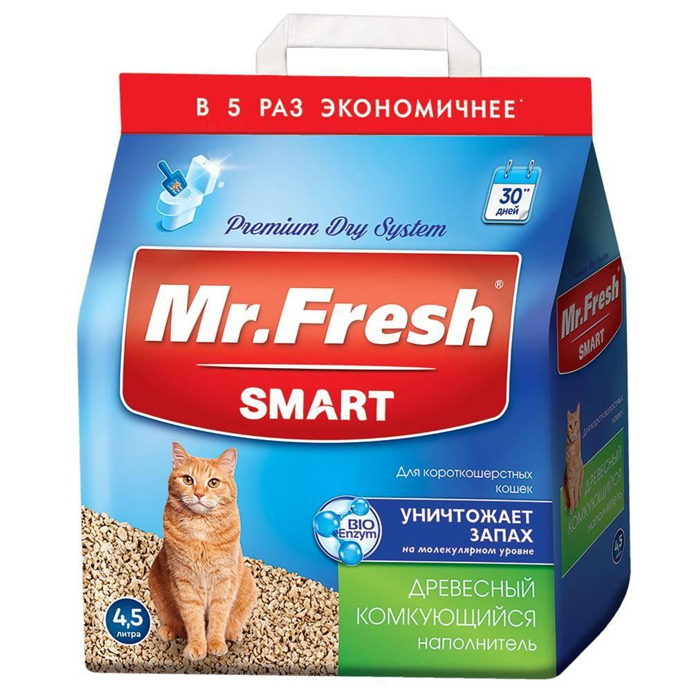 Мистер Фреш Наполнитель древесный комкующийся для длинношерстных кошек, в ассортименте, Mr. Fresh