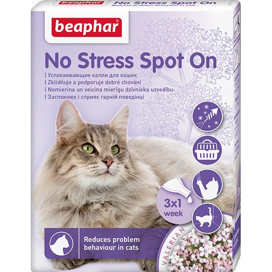Беафар Успокаивающие капли No Stress Spot On 3 пипетки, в ассортименте, Beaphar