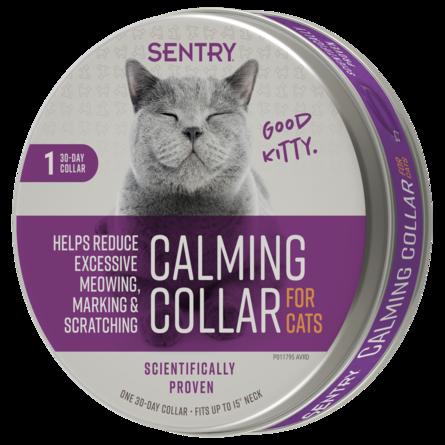 Ошейник New Sentry Calming Collar для кошек успокаивающий с феромонами, в ассортименте, SERGEAT'S