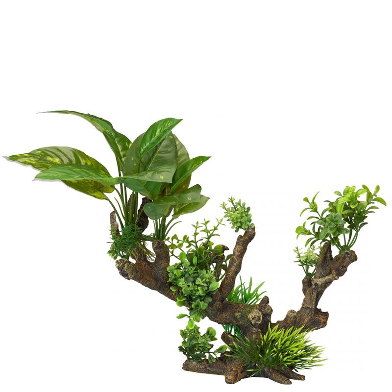 АкваДелла Декоративное растение Florascape 5 для террариумов и аквариумов, 33,5*16*27,5 см, AquaDella