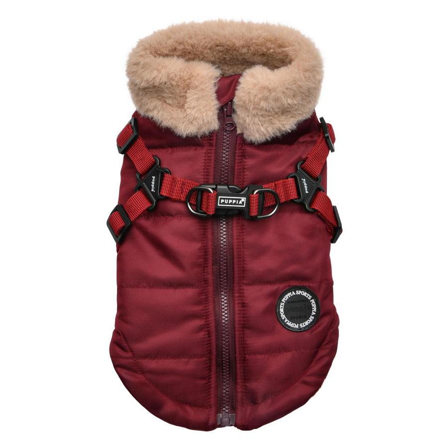 Паппи Куртка со встроенной шлейкой Donavan в ассортименте, красная, Puppia