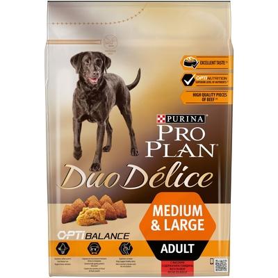 Корм Про План Duo Delice для собак средних и крупных пород, Говядина/Рис, в ассортименте, Pro Plan