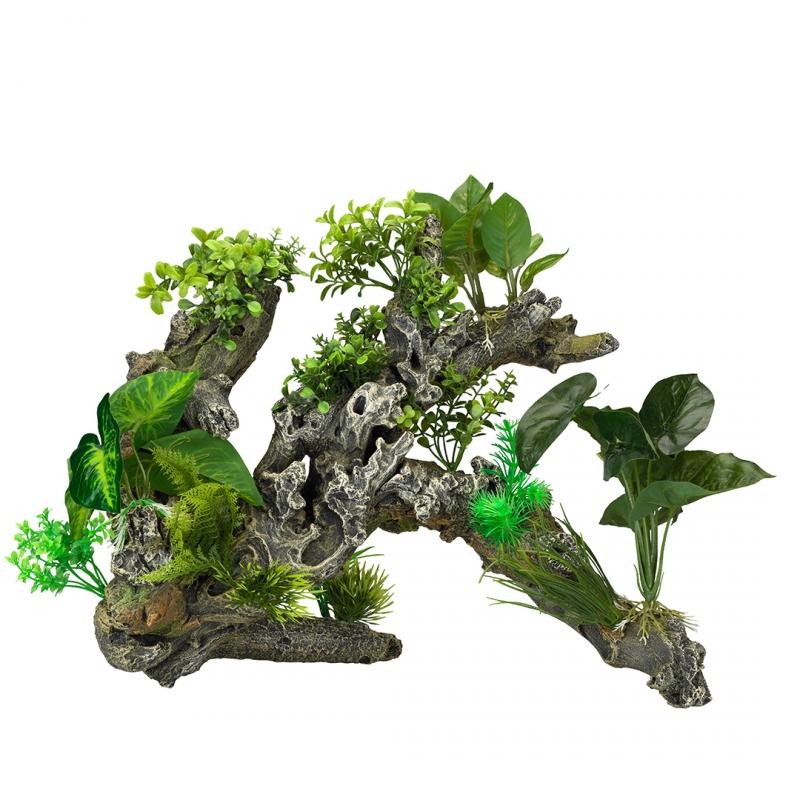 АкваДелла Декоративное растение Florascape 9 для террариумов и аквариумов, 41*40,5*34,5 см, AquaDella