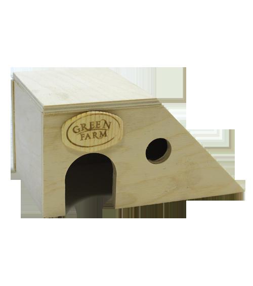 Грин Фарм Дом с наклонной стенкой для мелких грызунов И-238 17*10*8 см, Green Farm